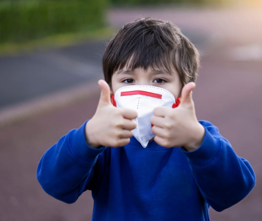 bambino-mascherina