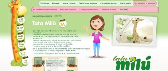 Il nuovo sito di Milupa: Tata Milù!