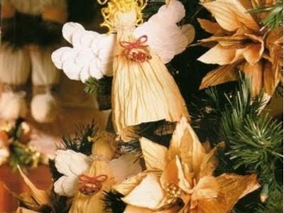 Decorazioni natalizie fai da te angeli di carta mammenellarete - Decorazioni per feste fai da te ...