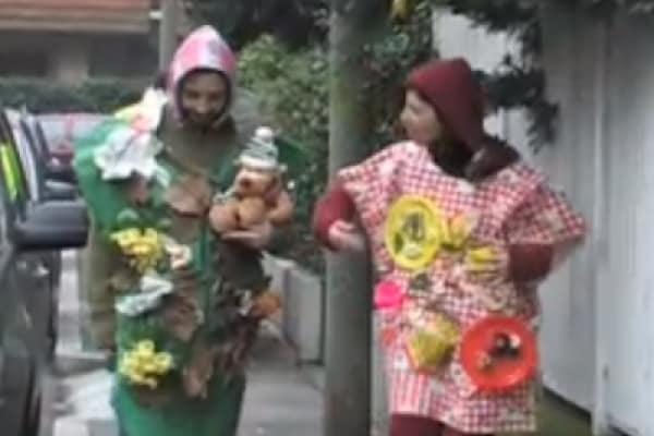 Il costume di Carnevale con materiale riciclato