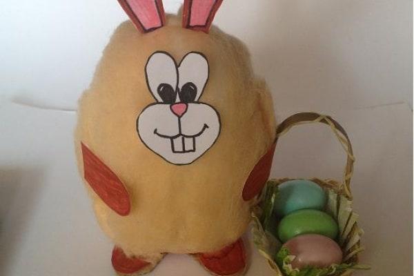 Lavoretto per bambini: il coniglietto di Pasqua