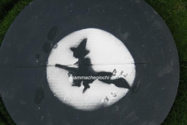 Lavoretti di Halloween: la strega e la luna piena