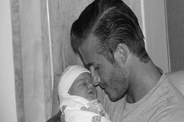 David  Beckham e il tatuaggio con il nome di Harper