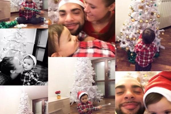 La magia del mio Natale e della mia vita sono il mio compagno e mio figlio