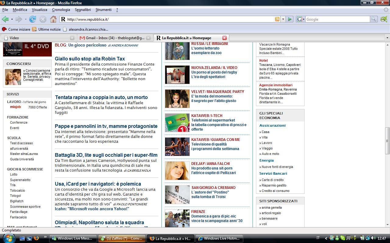 Una passerella di emozioni mammenellarete for Home page repubblica