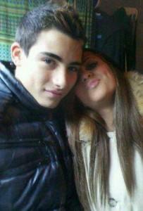 Antonio e Eleonora. Foto di quando si sono fidanzati